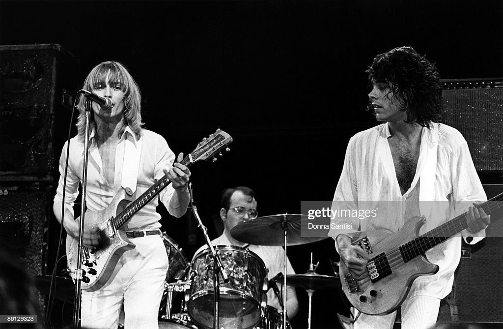 CLUB Photo of CHEAP TRICK and Robin ZANDER and Bun E CARLOS and Tom PETERSSON LR Robin Zander Bun E Carlos and Tom Petersson performing on stage