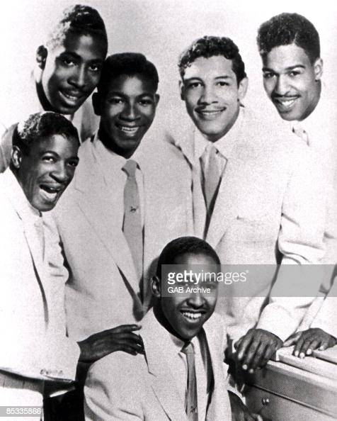 Photo of CHORDS and Claude FEASTER and Carl FEASTER and William EDWARDS and Jimmy KEYES and Buddy McRAE and Rupert BRANKER Posed group portrait...