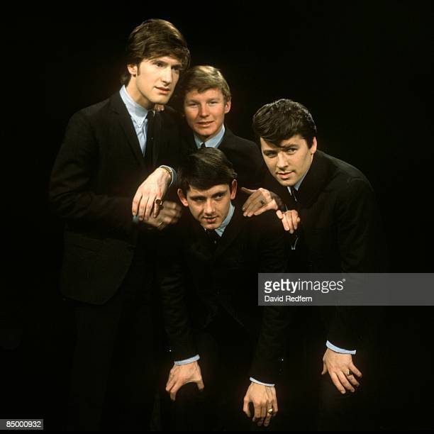 STARS Photo of Chris CURTIS and SEARCHERS and Mike PENDER and John McNALLY and Frank ALLEN LR Chris Curtis John McNally Frank Allen Mike Pender posed...