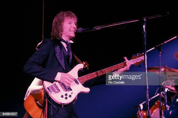 ARENA Photo of Chris SQUIRE and YES Chris Squire performing live onstage playing Rickenbacker 4001 bass