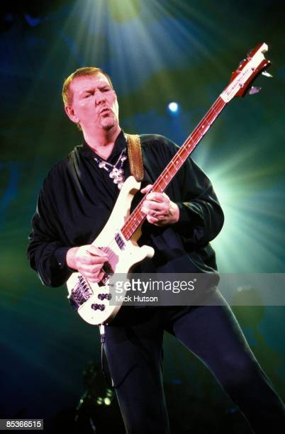 Photo of Chris SQUIRE and YES Chris Squire performing live onstage playing Rickenbacker 4001 bass