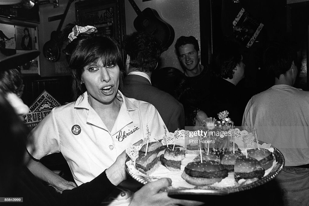 Photo of Chrissie HYNDE and PRETENDERS; Chrissie Hynde at PETA 'Tame Yourself' record release party
