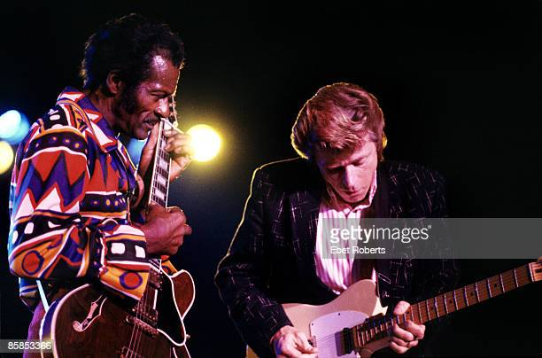 FORUM Photo of Chuck BERRY and Dave EDMUNDS Chuck Berry and Dave Edmunds performing on stage