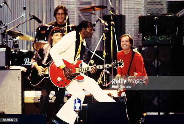 Photo of Chuck BERRY Chuck Berry performing on stage at the Rock and Roll Hall of Fame Concert