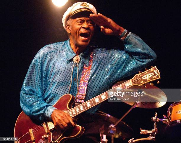HALL Photo of Chuck BERRY Chuck Berry performing on stage