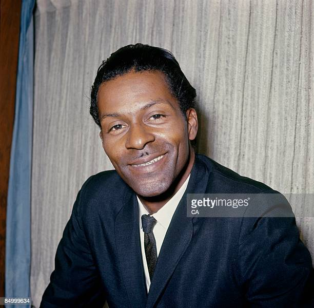 Photo of Chuck BERRY Posed portrait of Chuck Berry at the EMI offices