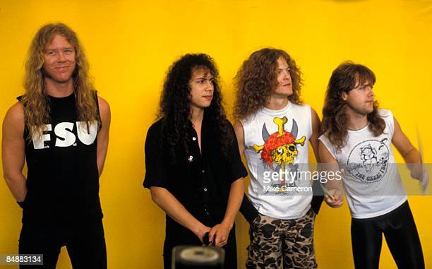 ROCK Photo of Cliff BURTON and James HETFIELD and Lars ULRICH and Kirk HAMMETT and METALLICA LR James Hetfield Kirk Hammett Cliff Burton Lars Ulrich...