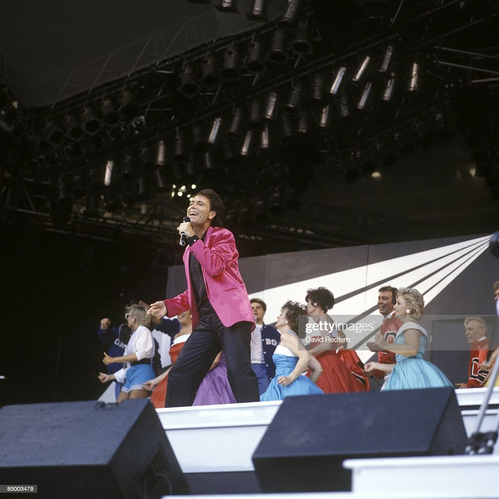 STADIUM Photo of Cliff RICHARD, performing live onstage at <a gi-track='captionPersonalityLinkClicked' href=/galleries/search?phrase=Cliff+Richard&family=editorial&specificpeople=158267 ng-click='$event.stopPropagation()'>Cliff Richard</a> - The Event