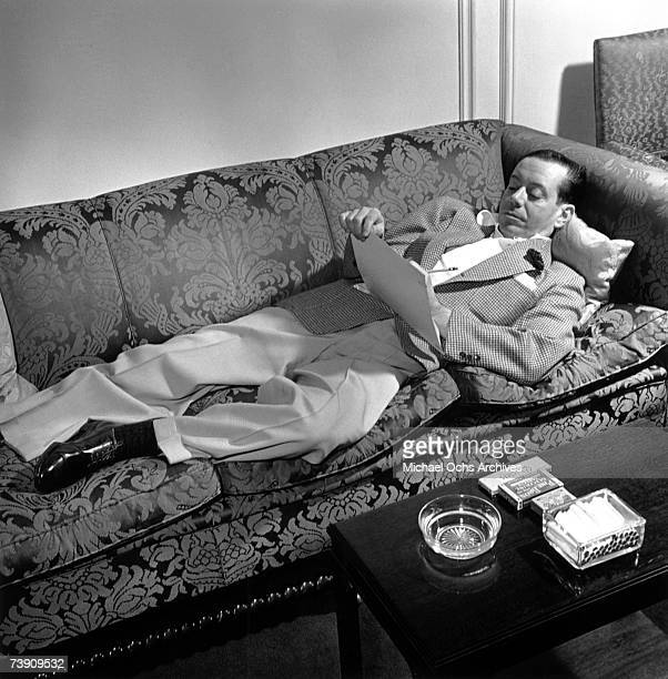 Photo of Cole Porter NYC NY 1939 Working on the score for the Broadway musical DuBarry was a Lady