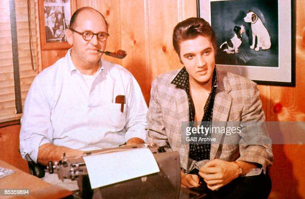 USA Photo of Colonel Tom PARKER and Elvis PRESLEY with manager Colonel Tom Parker posed c1956/1967
