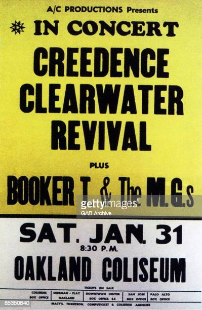 Photo of CONCERT POSTERS and BOOKER T MG'S and CREEDENCE CLEARWATER REVIVAL Cocert Poster