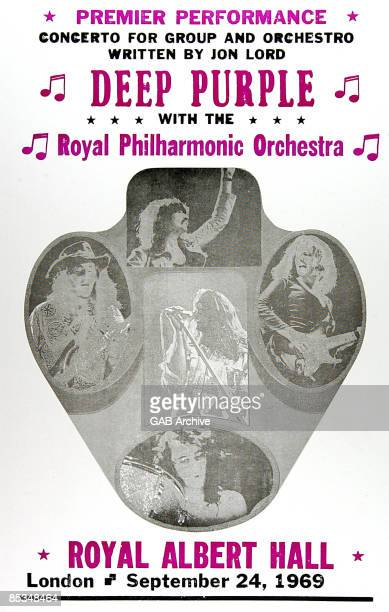 Photo of CONCERT POSTERS and DEEP PURPLE Poster for the Concerto For Group Orchestra show