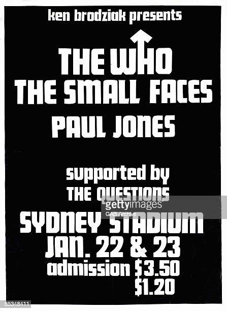 Photo of CONCERT POSTERS and The Who Concert poster from Australian tour with Small Faces and Paul Jones