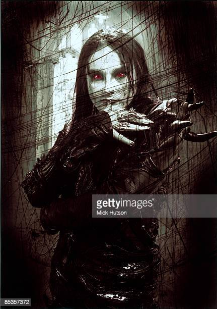 Photo of CRADLE OF FILTH and Dani FILTH Posed portrait of Dani Filth red eyes 400