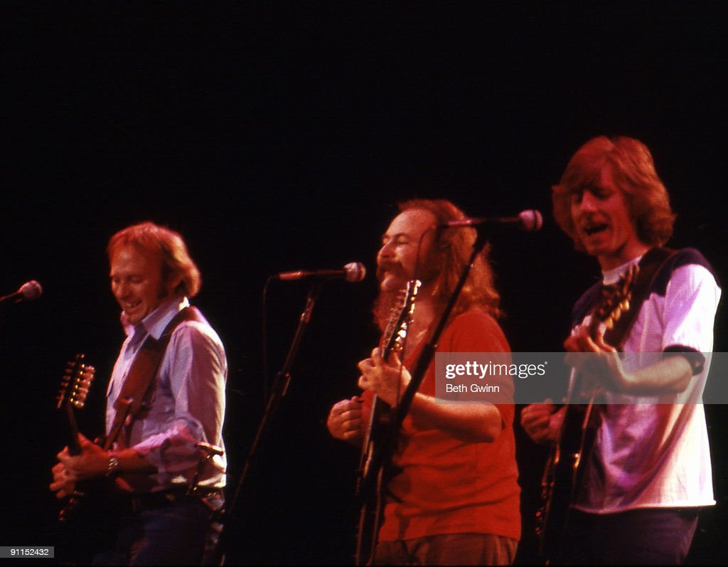 NASHVILLE Photo of CROSBY STILLS NASH and David CROSBY and Stephen STILLS and Graham NASH Group performing on stage LR Stephen Stills David Crosby...