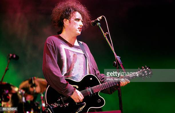 FESTIVAL Photo of CURE and Robert SMITH Robert Smith performing live onstage