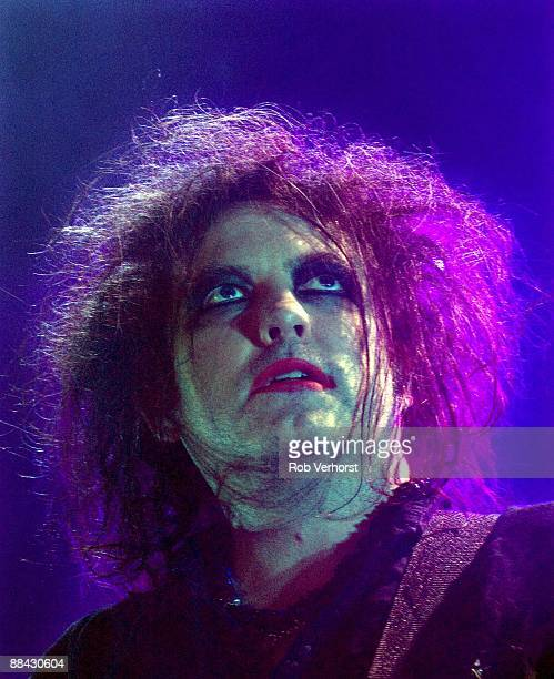 AHOY Photo of CURE and Robert SMITH Robert Smith performing on stage portrait