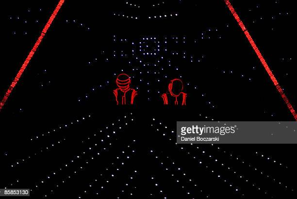 LOLLAPALOOZA Photo of DAFT PUNK and Thomas BANGALTER and Guy Manuel de HOMEM CHRISTO Daft Punk performing stage show and lights