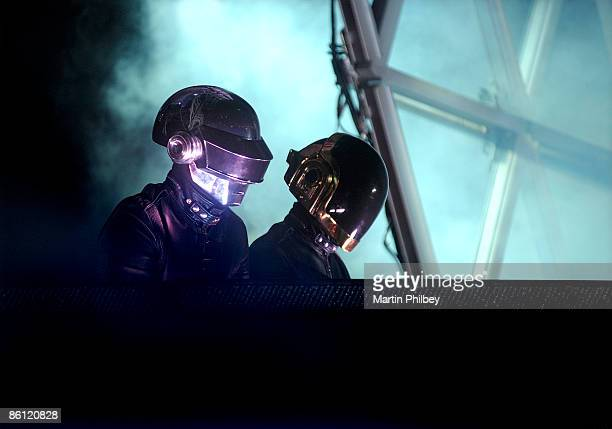 Photo of DAFT PUNK Daft Punk performing on stage at the Sidney Myer Music Bowl