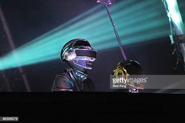 Photo of DAFT PUNK Daft Punk performing on stage at the Sydney Showground