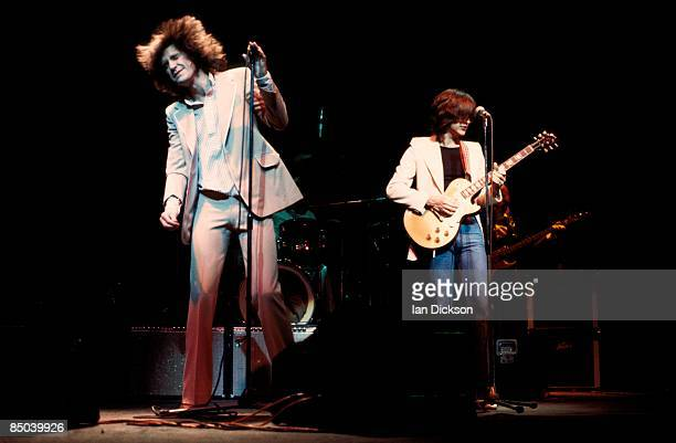 THEATRE Photo of Dave DAVIES and KINKS and Ray DAVIES Ray Davies and Dave Davies performing live onstage