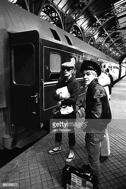 Photo of David Bowie 23 David Bowie Iggy Pop at Copenhagen Central Railwaystation 1976