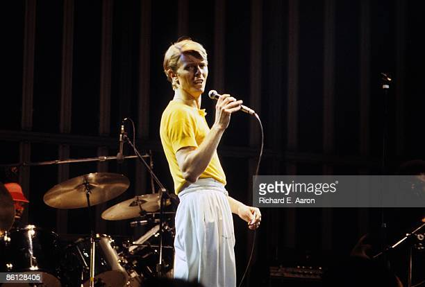 GARDEN Photo of David BOWIE and Dennis DAVIS Dennis Davis and David Bowie performing live onstage on Low/Heroes 1978 World Tour
