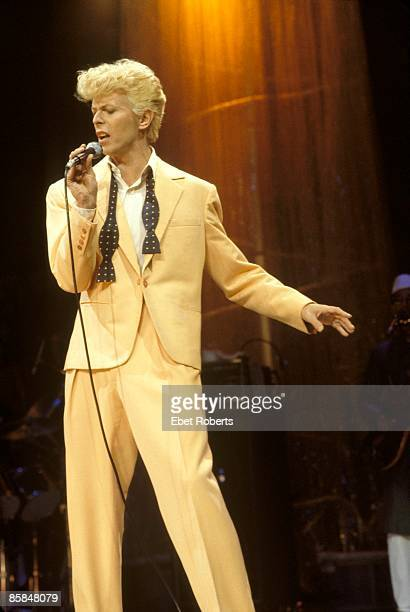 GARDEN Photo of David BOWIE performing live onstage on the Serious Moonlight tour