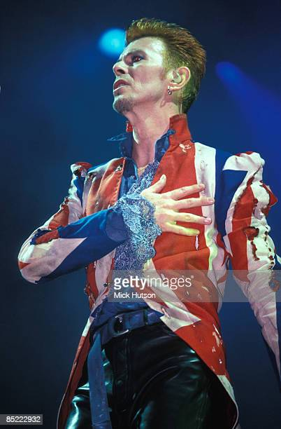 FESTIVAL Photo of David BOWIE performing live onstage Outside tour era