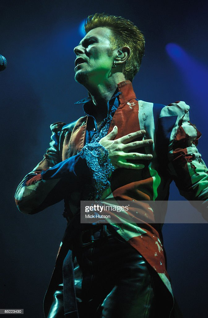 FESTIVAL Photo of David BOWIE, performing live onstage - Outside tour era