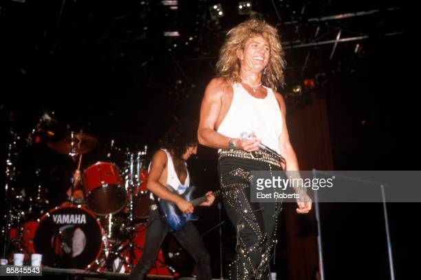 Photo of David COVERDALE and Vivian CAMPBELL and WHITESNAKE Vivian Campbell David Coverdale performing live onstage