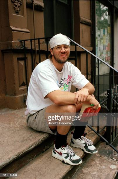 Photo of David FOSTER WALLACE Posed portrait of writer David Foster Wallace