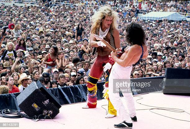 USA Photo of David Lee ROTH and Eddie VAN HALEN and VAN HALEN