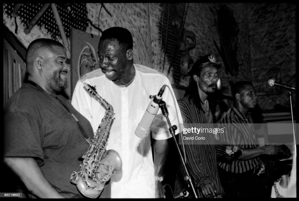 Photo of Dean FRASER Dean Fraser and The Heptones performing at SOBs New York 1996