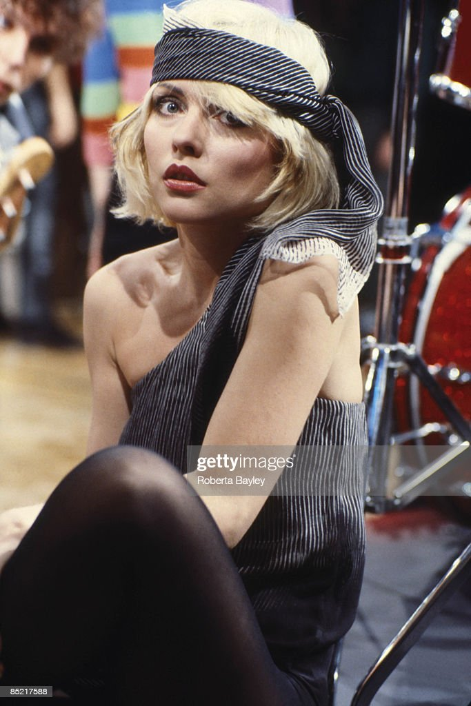 Photo of Debbie HARRY and BLONDIE; Debbie Harry on the set of the 'Heart of Glass' video shoot