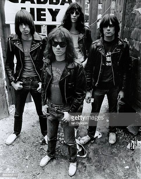 Photo of Dee Dee RAMONE and Johnny RAMONE and Joey RAMONE and RAMONES LR Johnny Ramone Tommy Ramone Joey Ramone Dee Dee Ramone