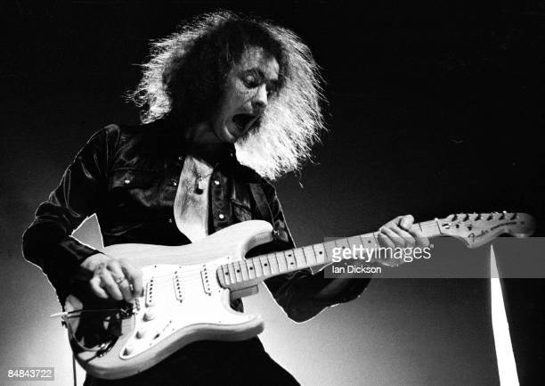 Photo of DEEP PURPLE and Ritchie BLACKMORE Ritchie Blackmore performing live onstage playing Fender Stratocaster guitar on UK tour
