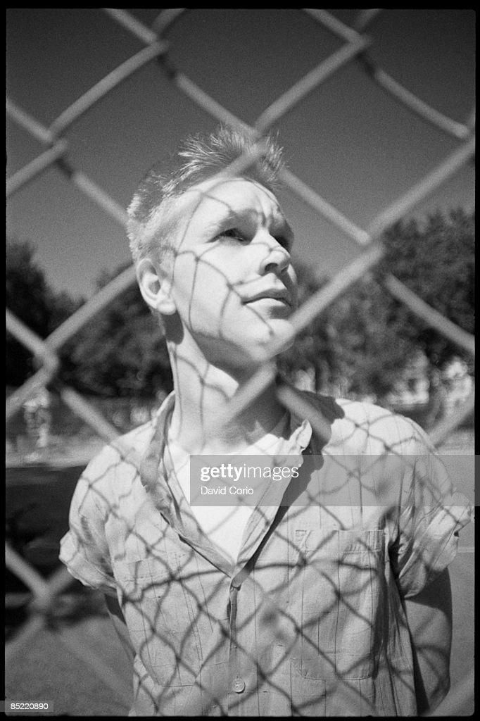 Photo of DEPECHE MODE; Andrew Fletcher of Depeche Mode at Shepherd's Bush, London, UK September 1982
