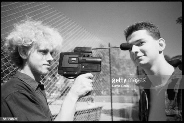 Photo of DEPECHE MODE Martin Gore and David Gahan of Depeche Mode at Shepherd's Bush London UK September 1982