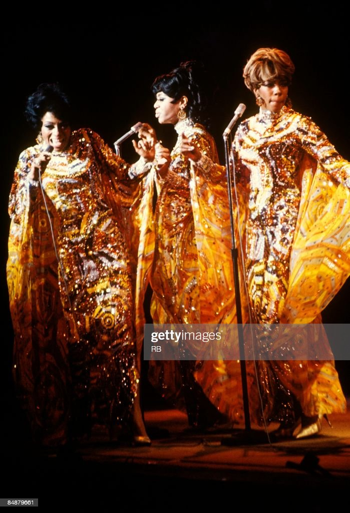 Photo of Diana ROSS and Florence BALLARD and Mary WILSON and SUPREMES Group performing on stage LR Diana Ross Florence Ballard Mary Wilson