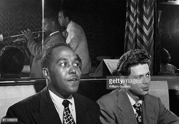 Photo of Dizzy GILLESPIE and Red RODNEY and Charlie PARKER w/Red Rodney
