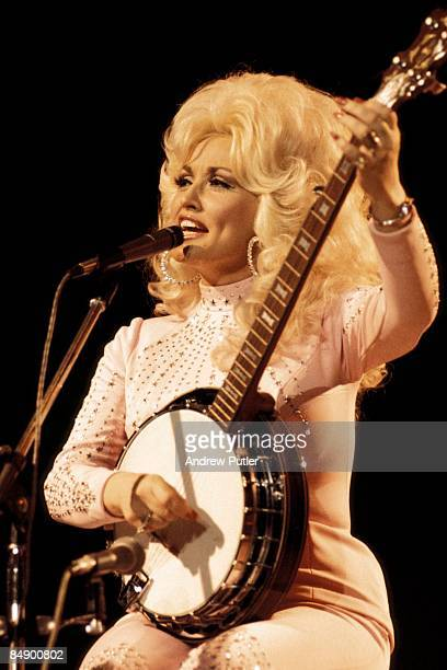 POOL Photo of Dolly PARTON performing live onstage at the UK Country Music Festival playing banjo