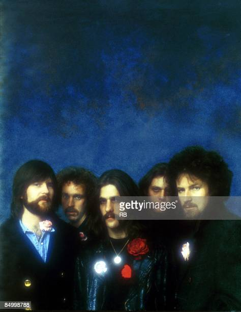 Photo of Don FELDER and Glenn FREY and Bernie LEADON and Randy MEISNER and EAGLES and Don HENLEY LR Randy Meisner Bernie Leadon Glenn Frey Don Felder...