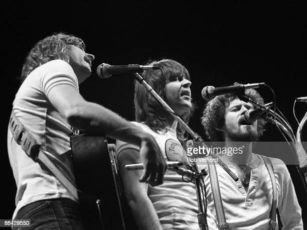 AHOY Photo of Don HENLEY and Randy MEISNER and Joe WALSH and EAGLES LR Joe Walsh Randy Meisner Don Henley performing live onstage