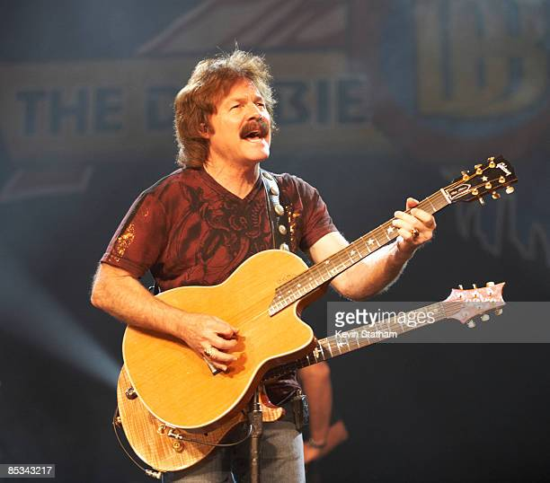 THEATRE Photo of DOOBIE BROTHERS and Tom JOHNSTON Tom Johnston performing on stage