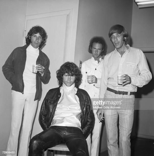 Photo of Doors California Los Angeles Doors LR Ray Manzarek Jim Morrison Robbie Krieger John Densmore
