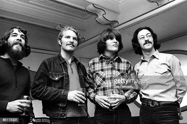 Photo of Doug CLIFFORD and Tom FOGERTY and John FOGERTY and Stu COOK and CREEDENCE CLEARWATER REVIVAL LR Doug Clifford Tom Fogerty John Fogerty Stu...
