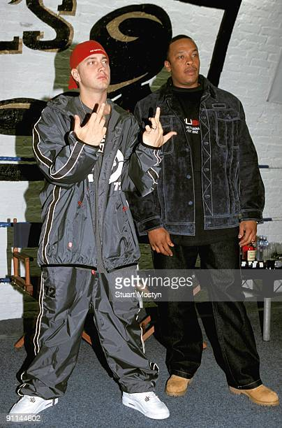 Photo of DR DRE and EMINEM with Dr Dre