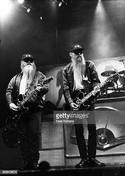 USA Photo of Dusty HILL and Billy GIBBONS and ZZ TOP LR Dusty Hill Billy Gibbons