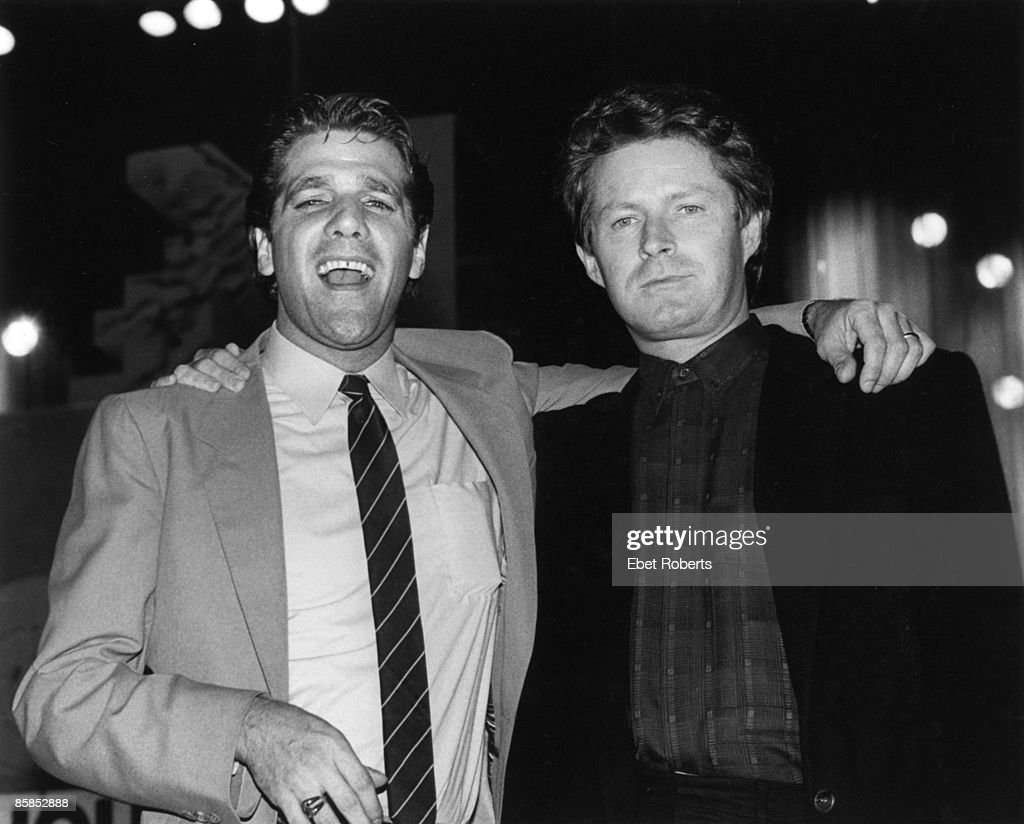 HALL Photo of EAGLES and Don HENLEY and Glenn FREY, Glenn Frey (L) and Don Henley at the 2nd Annual MTV Awards